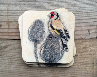 Goldfinch Coasters