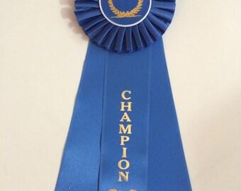 Champion Rosette Ribbon Award