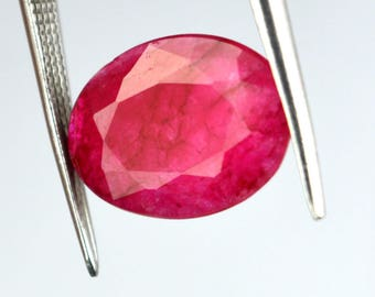 3.90 Ct Natural Oval Cut Beryl Bixbite Red Emerald Loose High Quality Gemstone