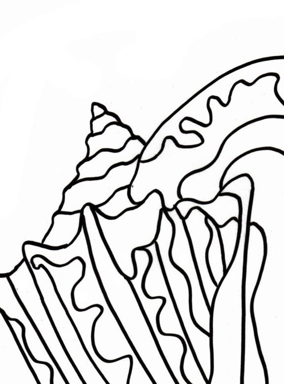 conch shell coloring pages - photo#5