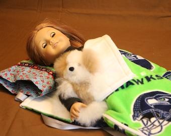 Doll Sleeping Bag - American Girl Doll - Our Generation - Bitty Baby - 18 Inch Doll