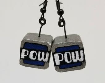 Pow box earrings