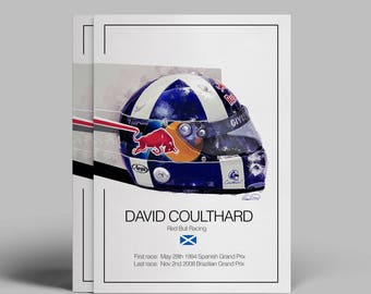 David Coulthard F1 Art - Limited Edition (50 total)
