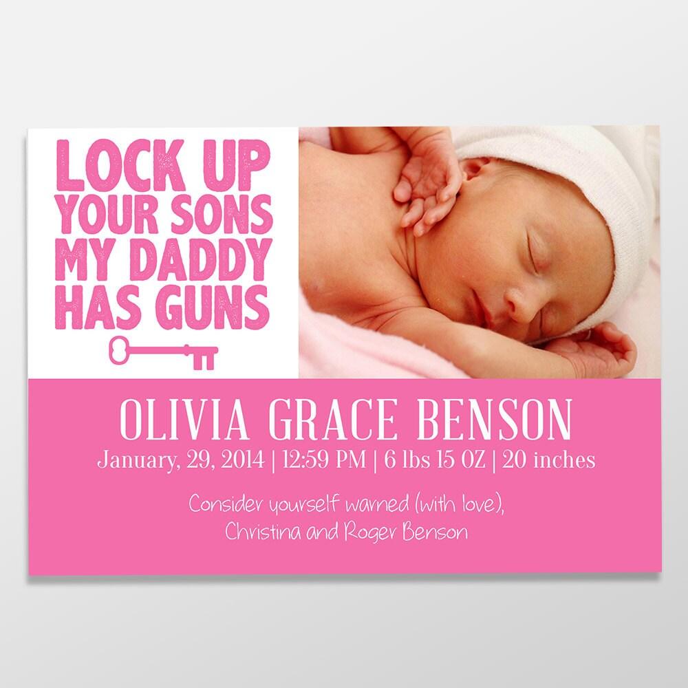 printed birth announcement