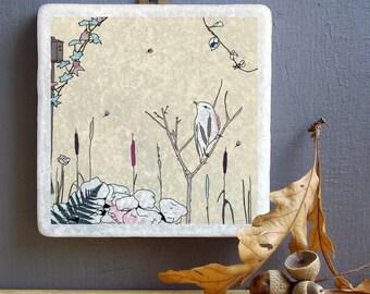 Bird Wall Art - Decorative Tile - Gift For Bird Lovers - Nature inspired wall art- Bird art- Handmade Wall Art- Bird Hanging Decoration