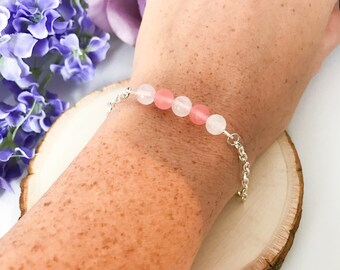 Love Bracelet / Minimalist Bracelet / Beaded Bracelet / Dainty Bracelet / Chain Bracelet / Healing Gemstones / Healing Crystals /