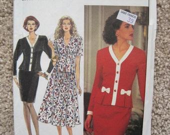 UNCUT Misses Dress - Size 4 to 8 - Simplicity 8167 - Vintage 1992