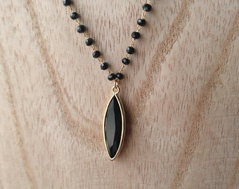 black quartz necklace