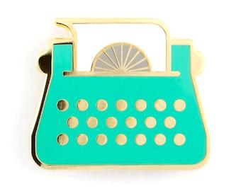 Typewriter Enamel Pin