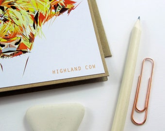 Scottish cards etsy highland cow greetings card scottish cards handmade cards scottish nature illustration m4hsunfo