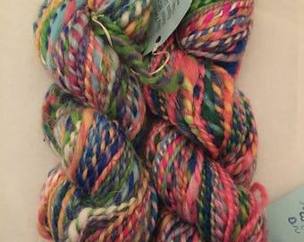 Handspun Yarn, Bulky- Merino BFL, Silk, Angora, Llama, Soy