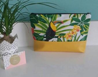 Yellow tropical Toiletry Kit
