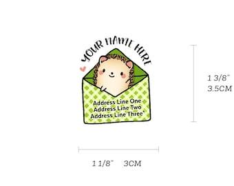 Adorable Hedgie Heggie Hedgehog Pet Blank Mailing and Custom Snail Mail Return Address Labels
