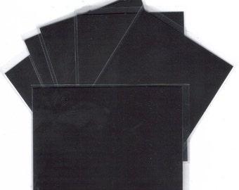 Six Silver Scratchboard Blanks