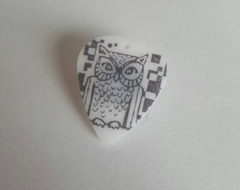 Owl Guitar Pick Needle Minder