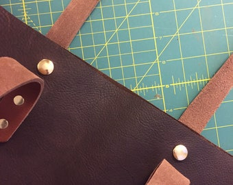 Snap closure add-on, Rustic Tote Bag, Leather Tote Bag Snap Closure