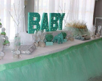 Head table skirt etsy custom tutu table skirt candy buffet centerpiece head table watchthetrailerfo