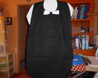 Lap long men or woman black bib