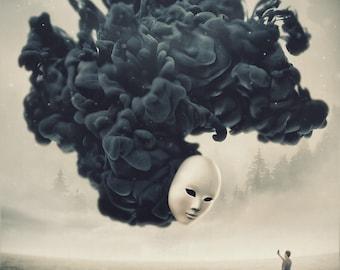 The Selfie a surreal dark dreamy world inspired digital art signed premium quality giclée print