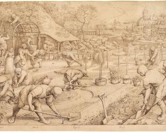 Pieter Bruegel the Elder: Spring. Fine Art Print/Poster (004403)