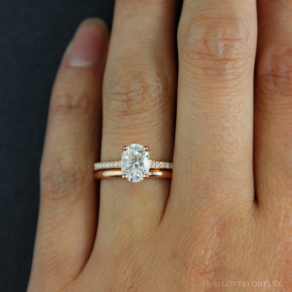 Forever One DEF Colorless Oval Solitaire Engagement Ring