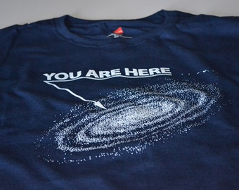 Space Shirt - You Are Here T Shirt - Teen Mens Gift - Funny Astronomy Tshirt - Science Gifts - T-shirt