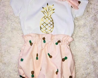 Pineapple Bloomers and Pineapple bodysuit