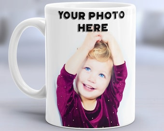 Personalized Photo Coffee Mug, Custom Photo Mugs, Custom Logo Mug, Custom Text Mug, Personalized Photo Mug, Custom Tee Mug