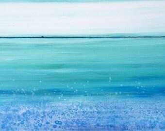 Ocean Spray Original Painting by Artist Rafi Perez Mixed Medium on Canvas 24X36