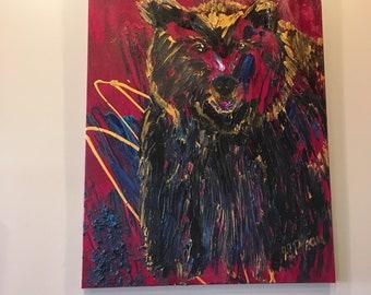 The furry bear