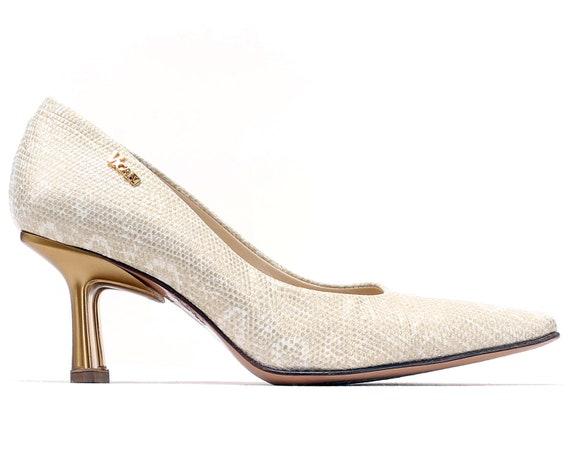 Leather Her Pumps 35 Gift Sandro Italian For Golden US 5 UK Luxury women Pumps 2 Designer EUR Snakeskin 5 Vicari Shoes 5 Glamorous Pattern TwAOF6xqpA