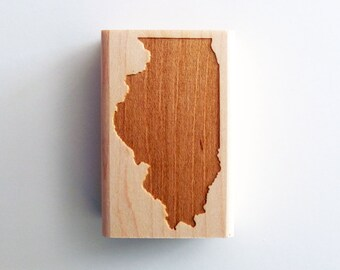 Illinois State Rubber Stamp