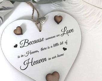 Heaven In Our Home Gift Keepsake Heart