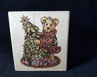 Elliot and the Tree The Boyd's Collection  -Rubber Stamp - Used