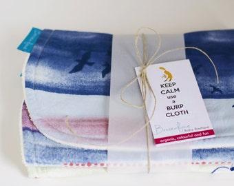 Organic Burp Cloth Set in Wanderlust