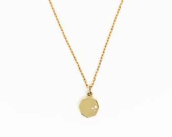 Barcelona Necklace | 925 Sterling Silver with 18k Plated Pendant | Triangullo Store