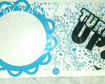 Turn up frame, dry erase board, frame, birds, recycle, upcycle, Floral
