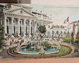 2 Original Postcards - 1907 Jamestown Exposition