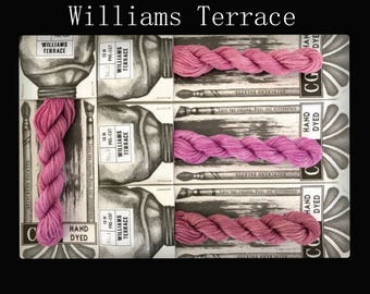 Williams Terrace Cottage Garden Threads Stitchers Palette -CGT- 6 Strand Cotton embroidery thread- Hand Dyed Thread-Quilting Australia