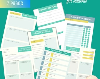 Learning Assistance Printable for Students (7 PAGES)