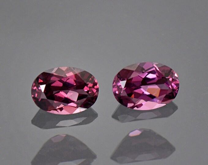 Beautiful Purple Pink Spinel Gemstone Match Pair from Tanzania 1.68 tcw.
