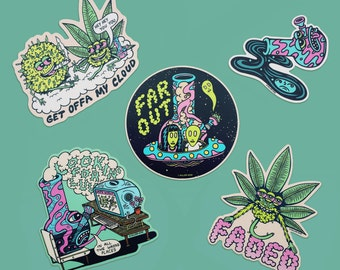 FAR OUT Stickers