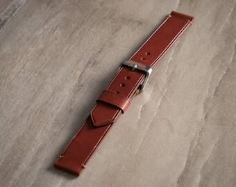 Hand Stitched Vintage Style Watch Strap