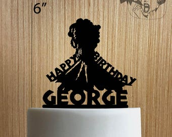 Custom Volcano Happy Birthday 225-039 Cake Topper