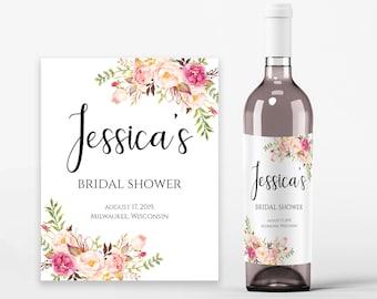 wine bottle label template