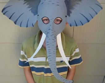 Elephant mask Elephant costume & Elephant mask | Etsy