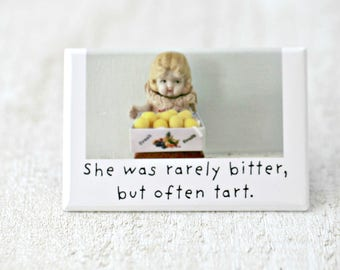 Tart Funny Bisque Dolly Claudia Doll Funny Lemon Magnet Friends