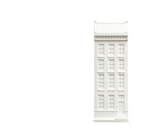Architectural plaster model Facade of a House in Amsterdam. Unique wall art. Perfect gift for anybody in love with architecture and design.