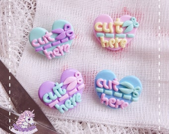 Cut Here brooches menhera yamikawaii