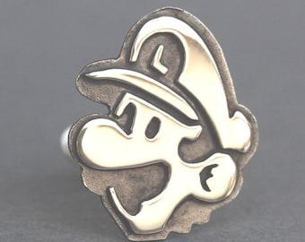 Cufflinks - Sterling Silver Mario and Luigi cufflinks